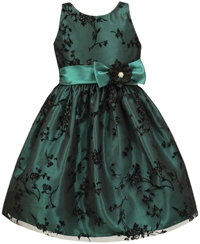 Jayne Copeland Flock Glitter Overlay Dress