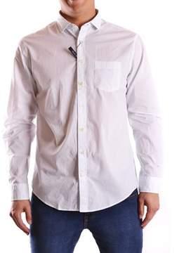 Gant Men's White/black Cotton Shirt.