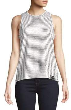 Calvin Klein Jeans Striped Logo Patch Tank Top
