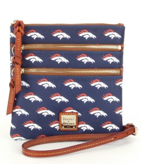 Dooney & Bourke NFL Collection Denver Broncos Triple-Zip Cross-Body Bag - NAVY - STYLE
