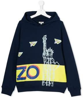 Kenzo logo stripe hoodie