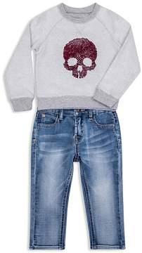 Hudson Boys' Skull Sweatshirt & Jeans Set - Baby