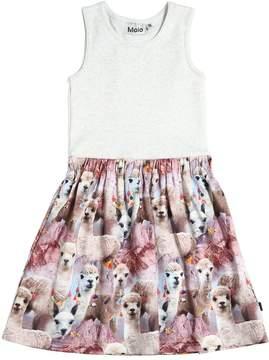 Molo Lama Printed Cotton Jersey Dress