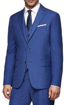 MANGO Tonal Plaid Coat
