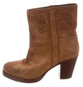 Car Shoe Suede Brogue Ankle Boots