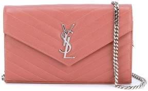 Saint Laurent 'Monogram' crossbody bag - PINK & PURPLE - STYLE