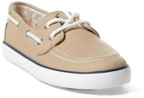 Ralph Lauren Sander Boat Shoe Khaki Canvas 3.5