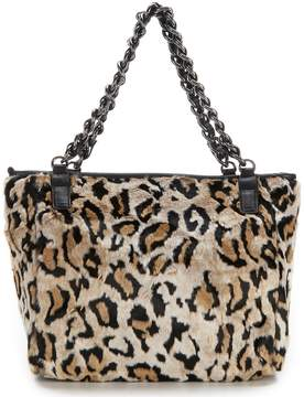 Betsey Johnson Faux-Fuh Leopard Tote
