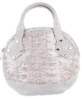 Rebecca Minkoff Embossed Leather Handle Bag - GREY - STYLE