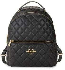 Love Moschino Quilted Diamond Backpack