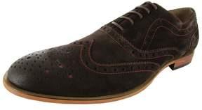 Steve Madden Mens Wakken Leather Oxford Shoe, Brown Suede, US 12