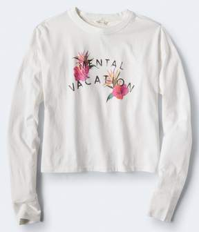Aeropostale Long Sleeve Mental Vacation Graphic Tee***