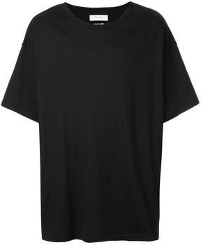 Facetasm striped patch T-shirt