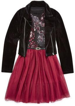 Knitworks Knit Works Belted Sleeveless Skater Dress - Big Kid Girls