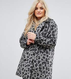 Alice & You Smart Coat In Monochrome Leopard Print