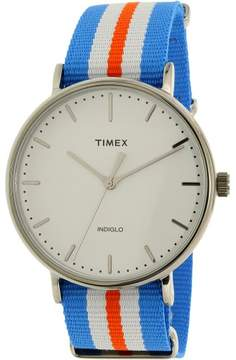 Timex Men's Weekender TW2P91100 Silver Nylon Japanese Quartz Dress Watch