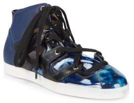 Emporio Armani Mixed Media High-Top Sneakers