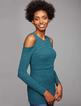 A Pea in the Pod Pull Over Cold Shoulder Nursing Top