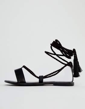 Asos FIRE FIRE Leather Tie Leg Sandals