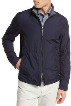 Ermenegildo Zegna Reversible Microfiber Blouson Jacket