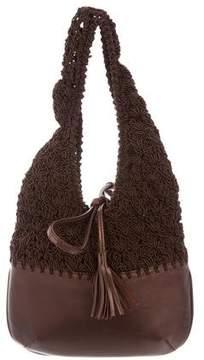 Salvatore Ferragamo Leather & Woven Mini Bag