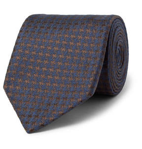 Charvet 7.5cm Houndstooth Mélange Silk Tie