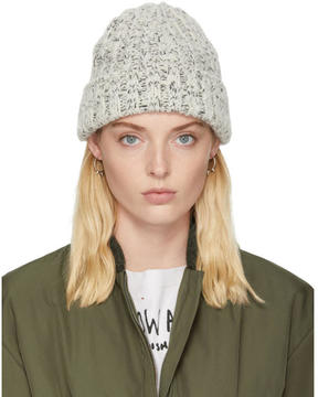 Isabel Marant Ecru and Black Freja Beanie