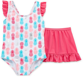 Asstd National Brand Pattern One Piece Swimsuit Toddler Girls