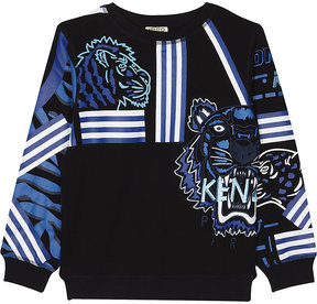 Kenzo Striped tiger cotton sweatshirt 4-16 years