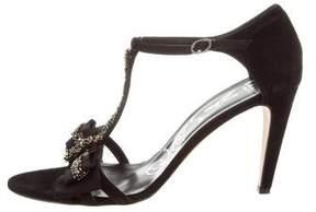 Tibi Embellished Suede Sandals