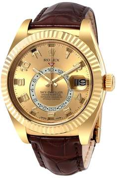 Rolex Sky Dweller Champagne Dial Men's Automatic Watch CAL