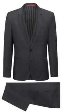 HUGO Boss Italian Wool 3-Piece Suit, Extra Slim Fit Phil/Taylor 46L Black