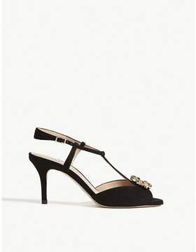 LK Bennett Yvette formal suede sandals
