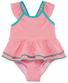 Asstd National Brand Stripe One Piece Swimsuit Toddler Girls