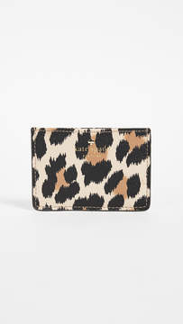Kate Spade Hyde Lane Leopard Card Holder - CLASSIC CAMEL MULTI - STYLE