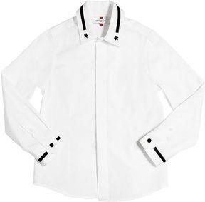 Embroidered Cotton Poplin Shirt
