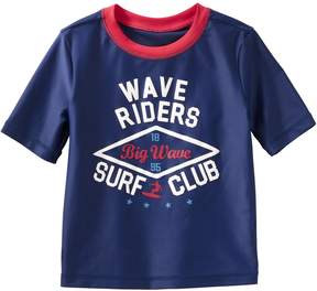 Osh Kosh Oshkosh Bgosh Boys 4-8 Wave Riders Surf Club Rash Guard