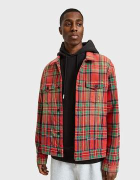 Off-White Off White Red Check Over Jacket