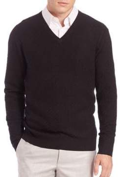 Saks Fifth Avenue COLLECTION Silk-Blend Textured Sweater