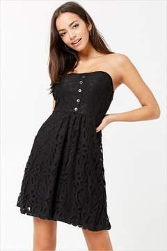 Forever 21 Lace Mini Tube Dress