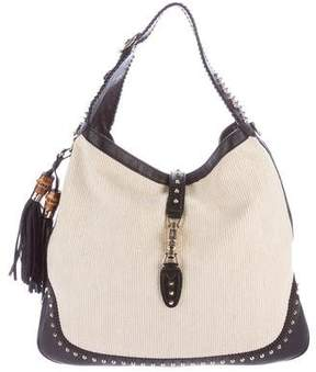 Gucci New Jackie Straw Shoulder Bag - NEUTRALS - STYLE