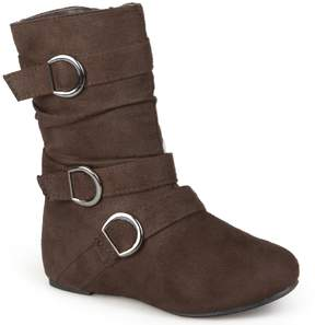 Journee Collection Journee Sarena Girls' Midcalf Slouch Boots