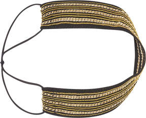Scunci Headbands of Hope Black with Gold Embroidered Headwrap