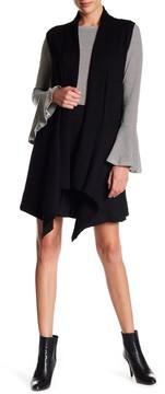 Adrienne Vittadini Open Front Long Cardigan