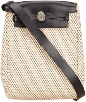 Hermes Herbag cloth handbag - WHITE - STYLE