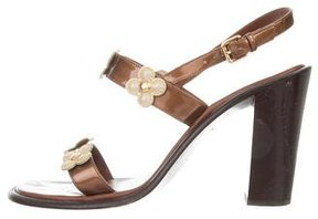 Louis Vuitton Fleur Slingback Sandals