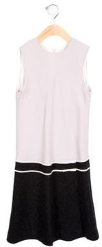 Helena Girls' Bow-Adorned Colorblock Dress