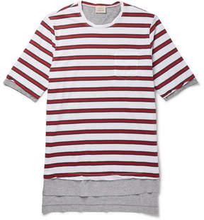 Lardini Wooster + Layered Striped Cotton-Jersey T-Shirt
