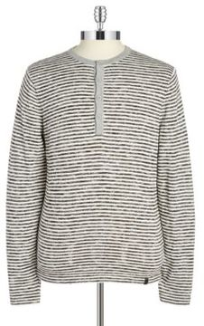 DKNY Striped Henley Top