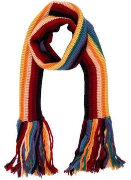 Marc Jacobs Multicolored Fringed Scarf